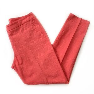 Halogen • Coral Brocade Skinny Pants